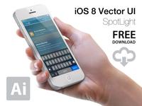 Ios8 Spotlight Ui Vector