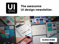 UIspring - UI design newsletter