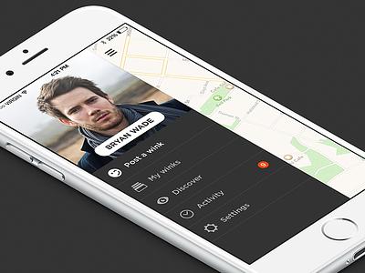 Wink App Menu ios app iphone menu wink