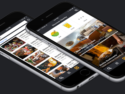 Search & Discover Screens video places discover search iphone ios app