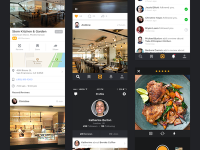 App Screens video activity profile details svcreens ios iphone app