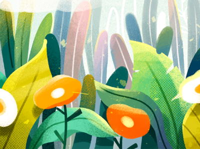 植物 girls illustration plants flat illustration design