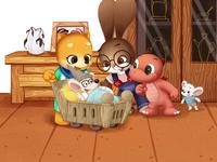 裁缝先生说他认识老鼠爷爷 mobile dogs mouse girls childrens illustration character design typography illustration design