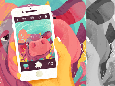 Cow Snap! photo picture snap childrenbook childrenillustration colorful iphone camera cow drawingart procreate sketch character design illustration