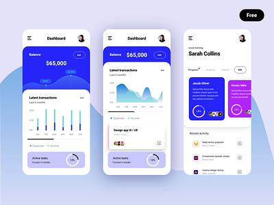 Dashboard bank free freebie dashboad graphic chart uxui uidesigner uidesign ui modern clean mobile kit mobile kit interface digital app