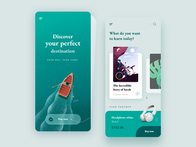 Discover and listen course mobile appcourse applearning mobilelearning mobile learning mobile uidesigner digital uiux uidesign mobile kit app freebie free interface