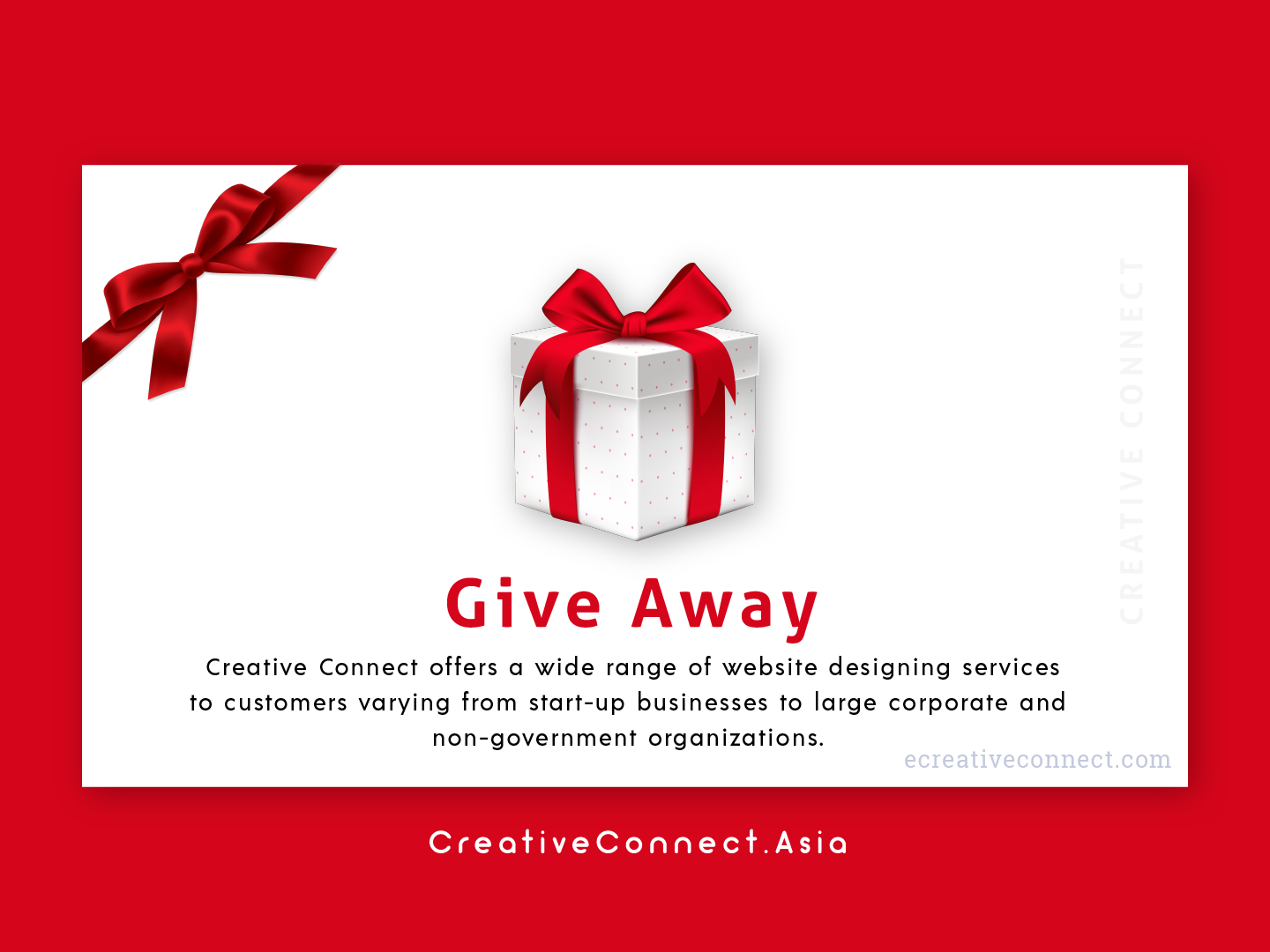 Daily UI - 97 97 lettering giveaway give red gift box typography animation website ux logo vector creative connect illustration branding web design dailyui creative