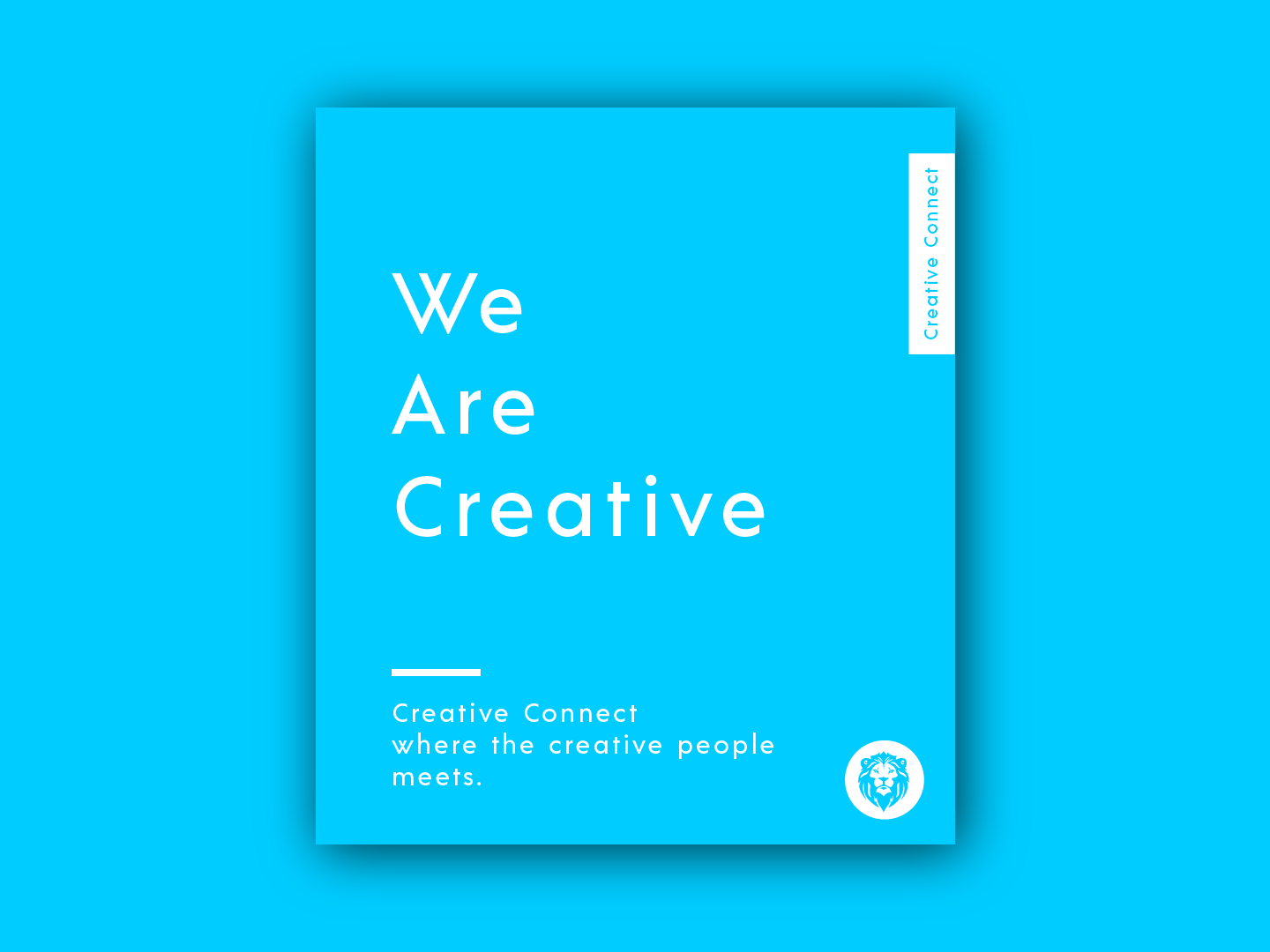 Creative Connect user login black  white blue colors color lettering icon type typography animation website logo vector creative connect illustration branding web design dailyui creative