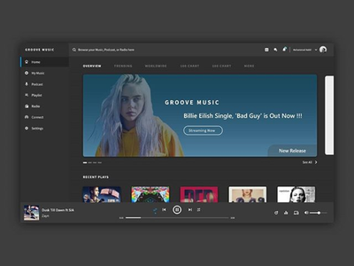 Groove Music Redesign