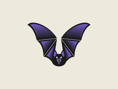 Bat scary beast animal graphic wings haunted horror spooky vampire bat illustration vector art