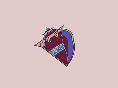 Conch Shell, Poseidon - 31/365 hades gaming vector illustration adobe illustrator conch shell greek ocean