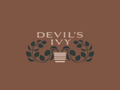 Devil's Ivy - 74/365 pothos illustration design grow tan orange green plants plant vines vine houseplant leaves leaf pot devil ivy
