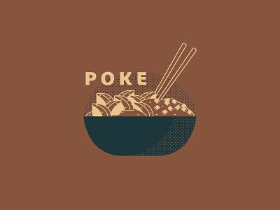 Poke - 85/365 sushi hawaiian illustration graphic design food meal rice onions fish chopsticks bowl poke
