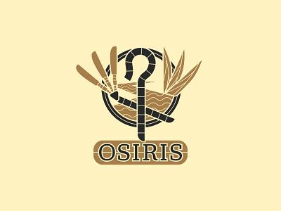Osiris - 125/365 illustrations branding logo design logo badge crook staff gold gods god mythology egyptian