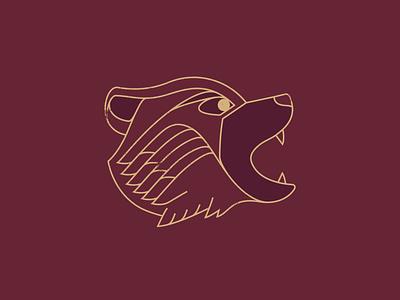 Bear - 306/365 illustrations vector illustration monoline simple lineart line animal bears bear