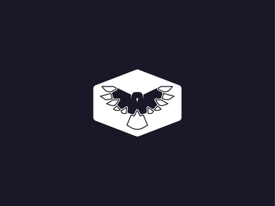 Gear Bird Logo - 313/365 wing branding design tech gear logo hawk bird