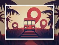 Pin Travel Postcard