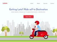 Bike renting Landing page