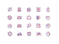 Travel/Transport Icon Set