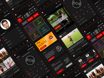 Fitness App design vector fitness app fitness mobile app ui ux mobile design ui figmadesign illustration