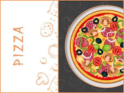 Pizza Illustration typography vector pizza figmadesign illustration