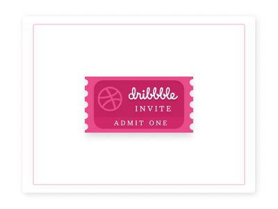 Dribbble Invite dribbble giveaway dribbble invitation dribbble invite dribbble vector figmadesign illustration design