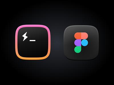 Hyper and Figma - Big Sur app skeumorphism squircle hyper figma macos big sur icon ui