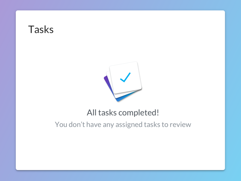 Empty State to do jobs completed ui ux card task empty state