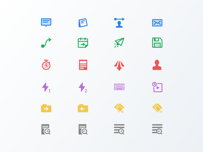 Enterprise Icons keyboard folder note component ux iconset cloud icons ui