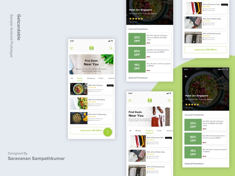 Cardable Redesign ux branding app design mobile app home screen andriod design