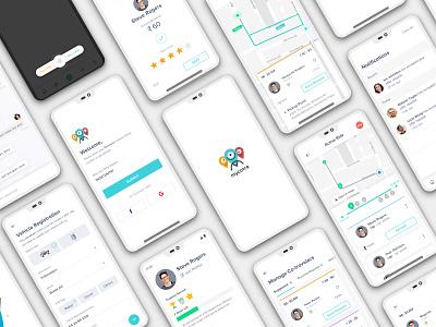 MyCotra Screens android app design bikepool iosdesign carpool ux ui app mobile app