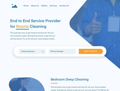Home Page design for service company homepage ux ui website