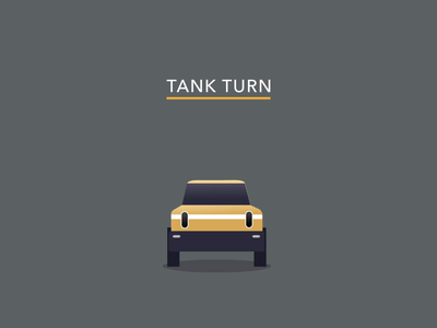 Tank Turn - RIVIAN electric cars pickup truck truck r1 aftereffects ae 2d 2d animation motion design animation rivian tank turn