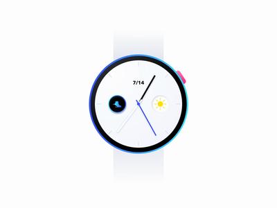 Running - WATCH APP watchface wearable 2d animation motion design ux design visual design interaction design health duration steps exercise running watch app watch