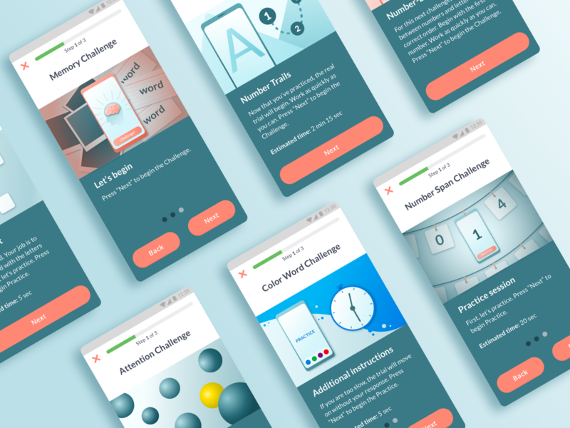 Gamification Modules - MyBPLab2.0 mobile game uidesign uiux visual design interaction design