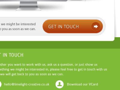 Homepage Redesign Rebound design footer icon button orange cta