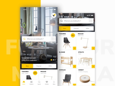 Furniture App shopping app e commerce thumbnails product room table chair item ui furniture ux mobile ios design app