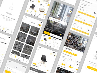 Furniture App - more pages interior room shop ecommerce chair ikea furniture mobile ios ux ui app shopping