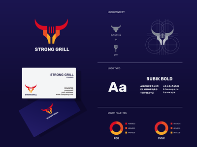 strong grill logo design icons grill strong identity company branding illustrator company icon vector awesome inspiration graphic brand logo designer illustration branding design