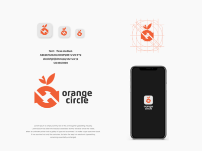 orange logo design circle orange dualmeaning dual icon vector awesome inspiration graphic brand logo designer illustration branding design