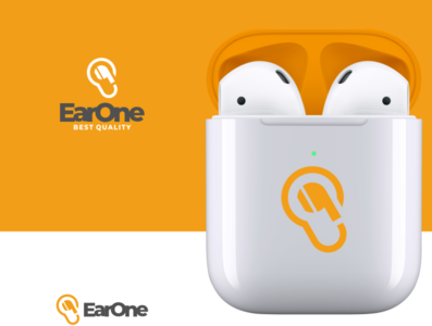 earOne earphone ear icon awesome inspiration graphic brand logo designer illustration branding design