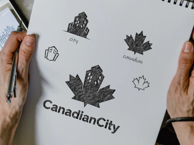 CANADIAN CITY city canadian icon company vector awesome inspiration graphic designer brand logo illustration branding design