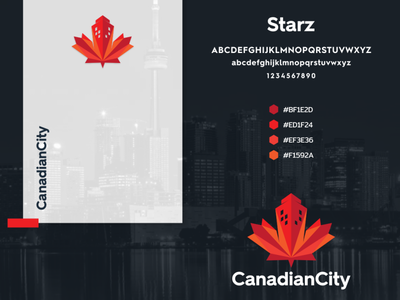 CANANDIAN CITY city canadian company vector awesome illustration inspiration graphic brand logo branding design