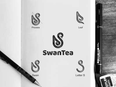 swantea tea swan vector awesome inspiration graphic brand logo designer illustration branding design