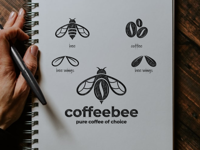 coffee bee artwork bee coffee vector company awesome inspiration graphic brand logo designer illustration branding design