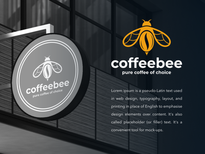 coffee bee bee coffee artwork company icon branding illustration designer inspiration graphic brand logo design