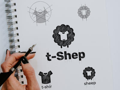 t-shep sheep tshirt vector awesome inspiration graphic brand logo designer illustration branding design