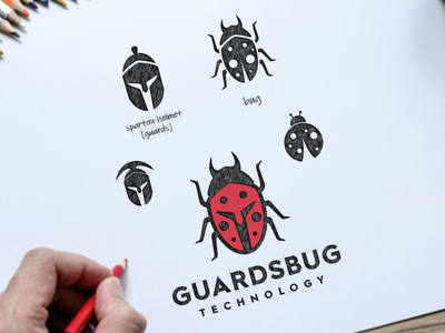 spartan bug technology tech bug spartan company vector awesome inspiration graphic brand logo illustration branding design
