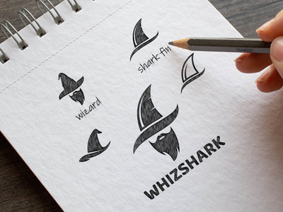 WHIZSHARK shark wizard artwork vector company awesome inspiration graphic brand designer illustration branding design logo