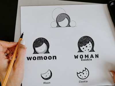 woman moon cookie woman icon vector awesome inspiration graphic brand logo designer illustration branding design